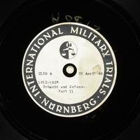 Day 117 International Military Tribunal, Nuremberg (Set A)  Click to enlarge