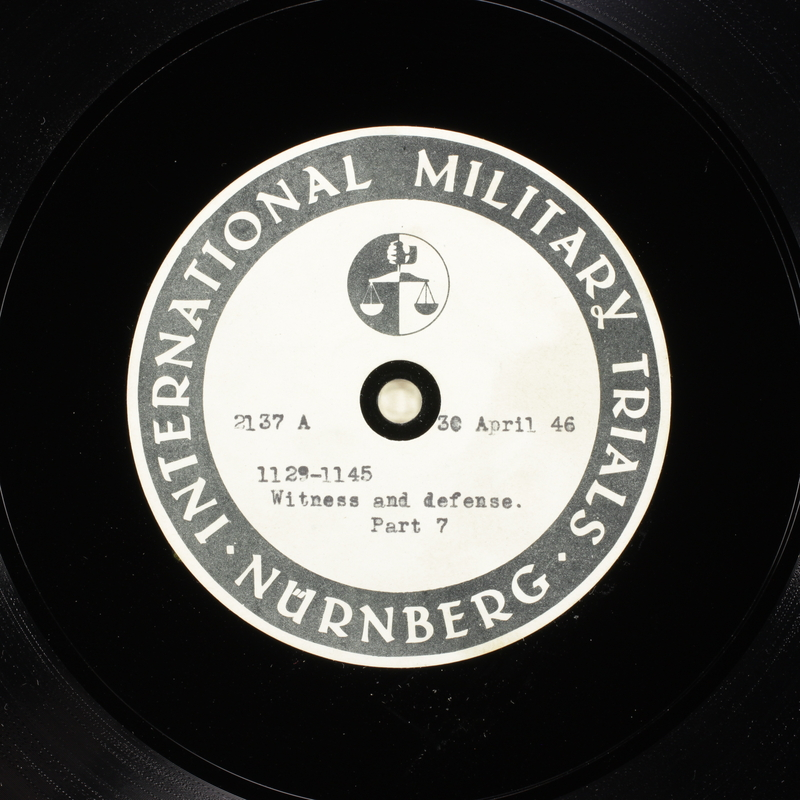Day 117 International Military Tribunal, Nuremberg (Set A)