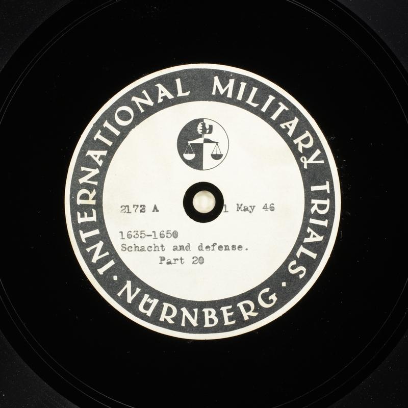 Day 118 International Military Tribunal, Nuremberg (Set A)