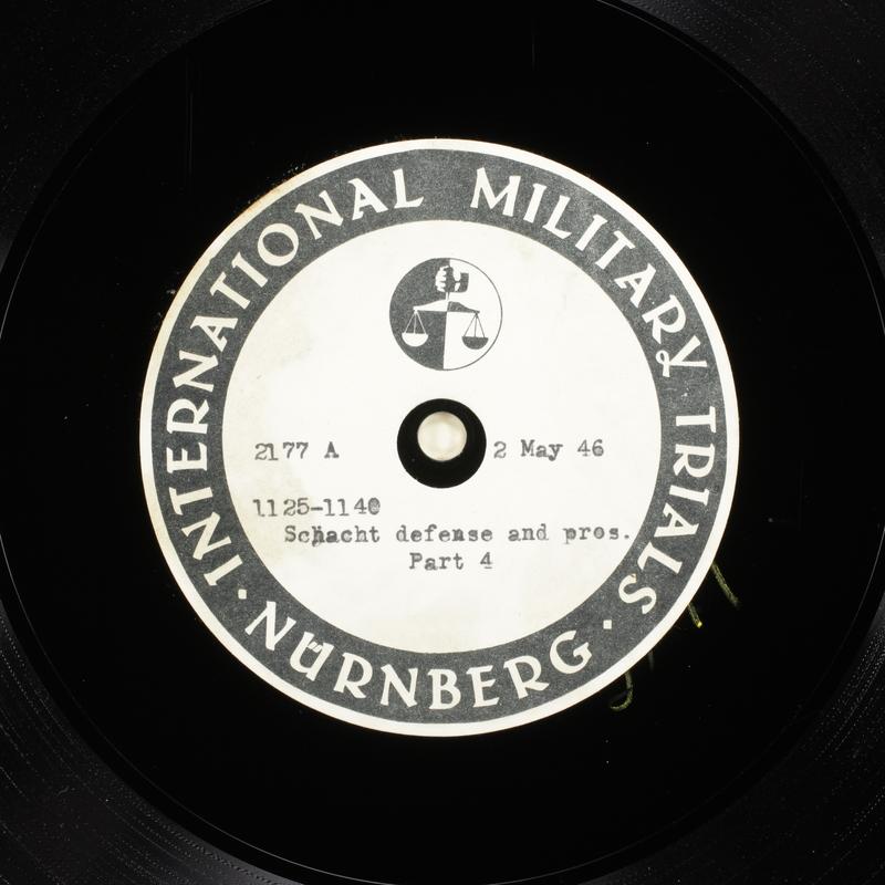 Day 119 International Military Tribunal, Nuremberg (Set A)