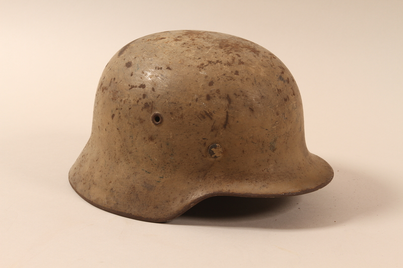1992.85.1 right side German army helmet found by a US soldier