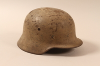 1992.85.1 right side German army helmet found by a US soldier  Click to enlarge