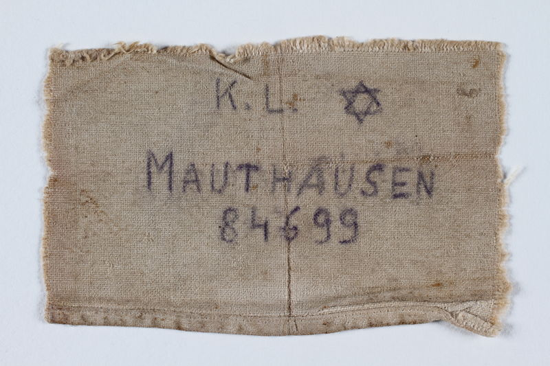 1992.93.2 front Badge issued at Mauthausen concentration camp
