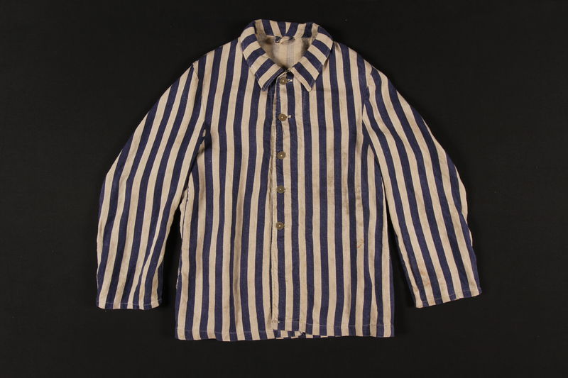 1992.97.1 front Concentration camp inmate uniform jacket
