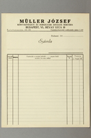 2016.583.3 front Blank order form from a paper store in Budapest  Click to enlarge