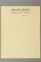 2016.583.4 front Sheet of letterhead from a paper store in Budapest  Click to enlarge