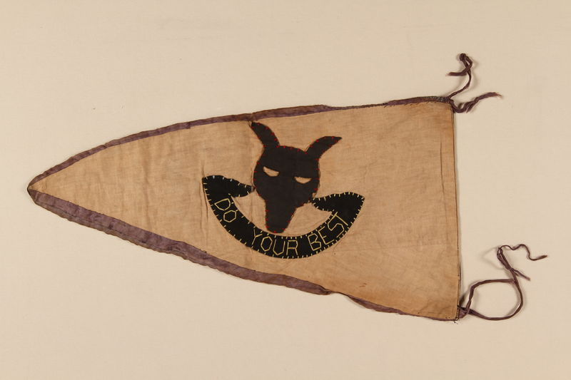 1993.107.2 back Boy Scout banner used in the Jewish Community in Shanghai