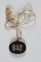 1993.112.4 front Necklace made for a young girl by her aunt while imprisoned in a concentration camp  Click to enlarge