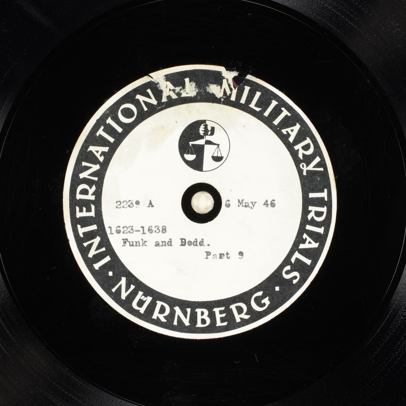 Day 122 International Military Tribunal, Nuremberg (Set A)