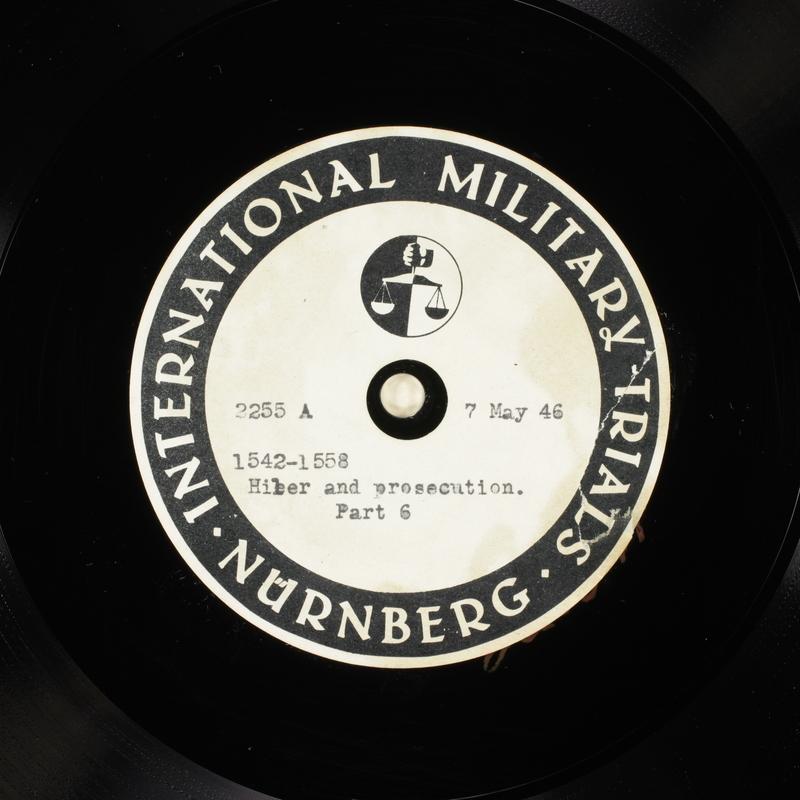 Day 123 International Military Tribunal, Nuremberg (Set A)