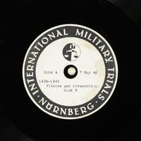 Day 123 International Military Tribunal, Nuremberg (Set A)  Click to enlarge