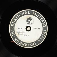 Day 124 International Military Tribunal, Nuremberg (Set A)  Click to enlarge