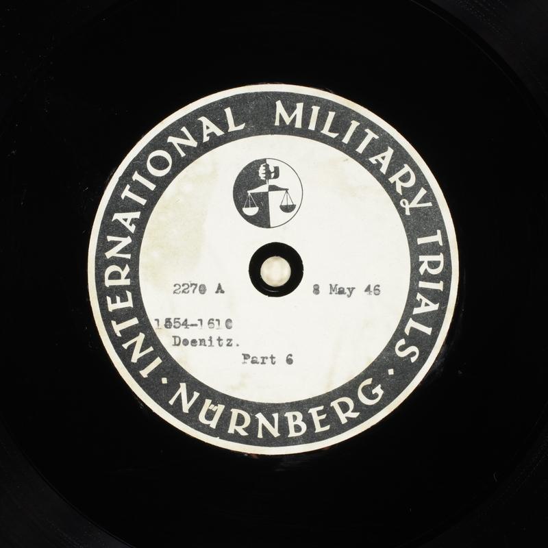 Day 124 International Military Tribunal, Nuremberg (Set A)