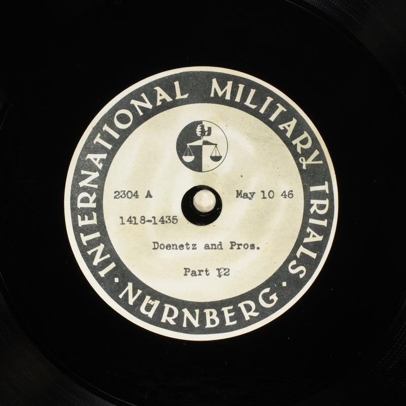 Day 126 International Military Tribunal, Nuremberg (Set A)