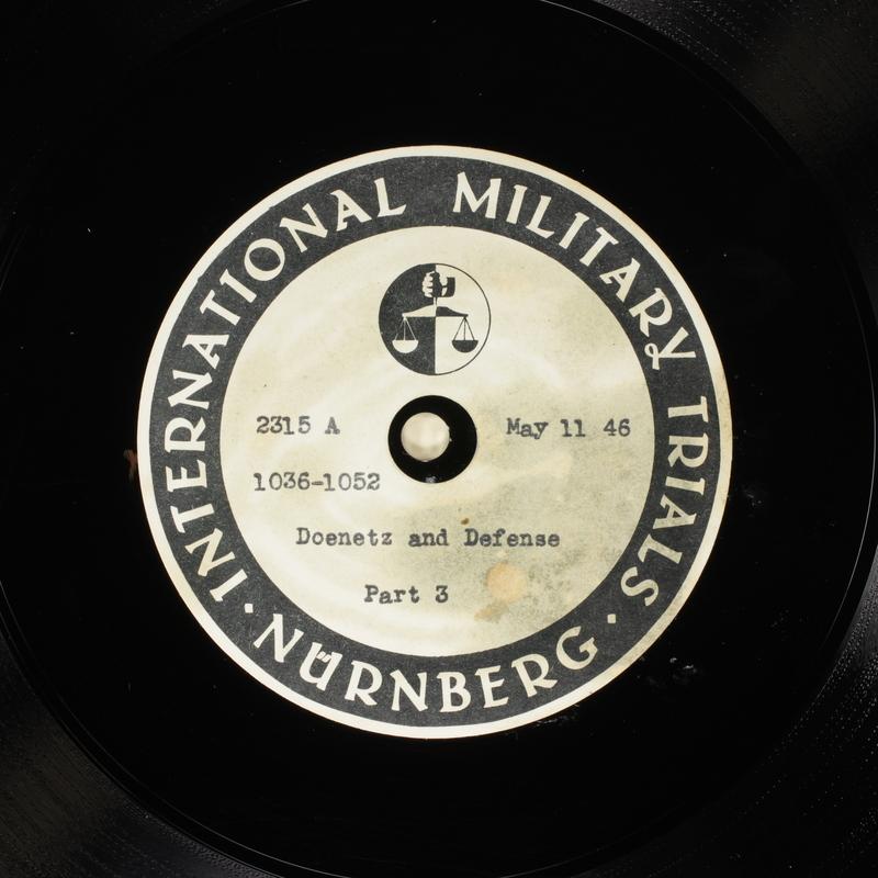Day 127 International Military Tribunal, Nuremberg (Set A)