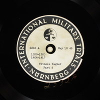 Day 128 International Military Tribunal, Nuremberg (Set A)  Click to enlarge