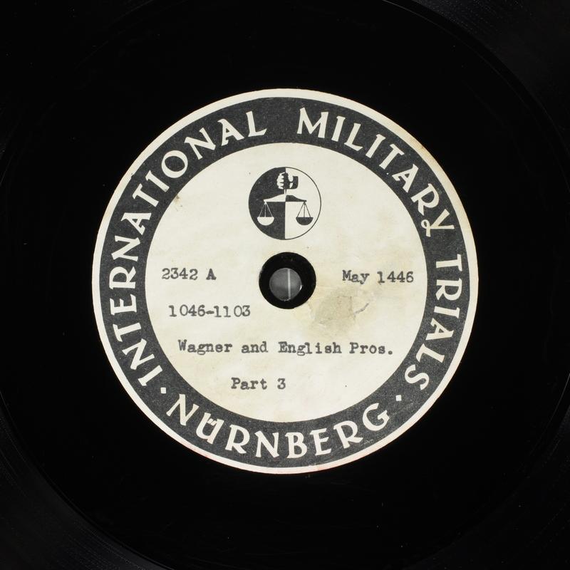 Day 129 International Military Tribunal, Nuremberg (Set A)