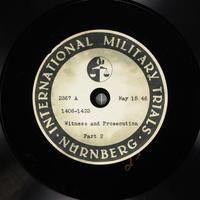 Day 130 International Military Tribunal, Nuremberg (Set A)  Click to enlarge