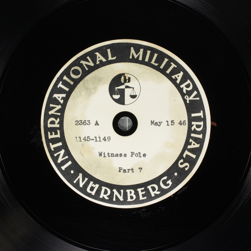 Day 130 International Military Tribunal, Nuremberg (Set A)