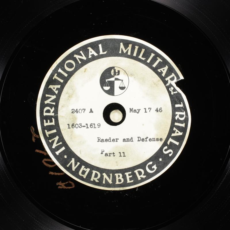 Day 132 International Military Tribunal, Nuremberg (Set A)