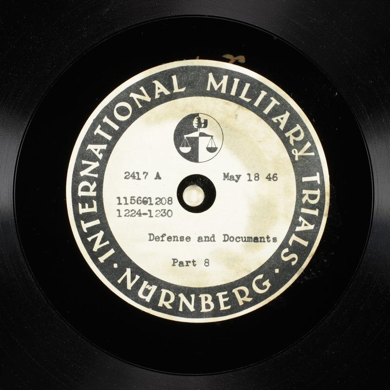 Day 133 International Military Tribunal, Nuremberg (Set A)