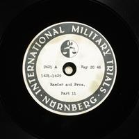 Day 134 International Military Tribunal, Nuremberg (Set A)  Click to enlarge