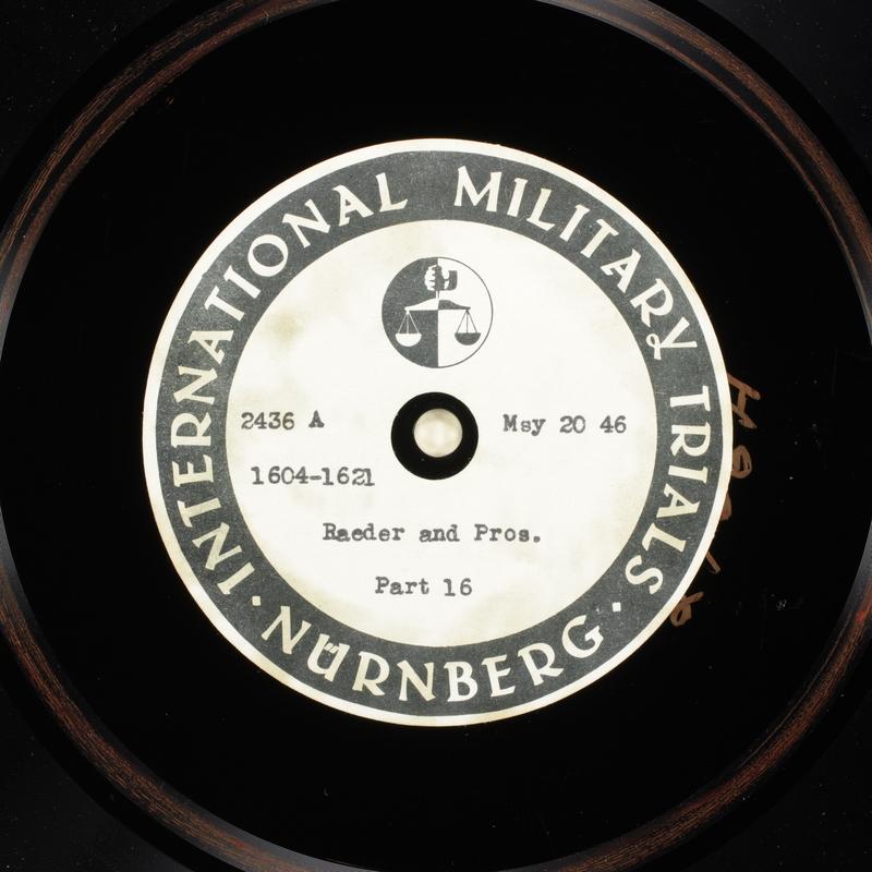 Day 134 International Military Tribunal, Nuremberg (Set A)