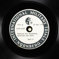 Day 138 International Military Tribunal, Nuremberg (Set A)  Click to enlarge