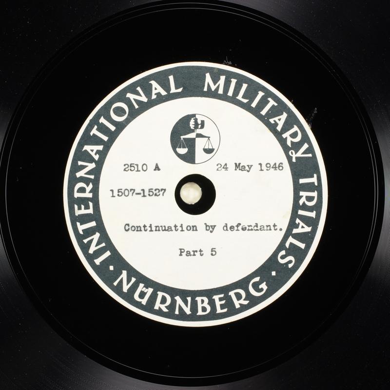 Day 138 International Military Tribunal, Nuremberg (Set A)