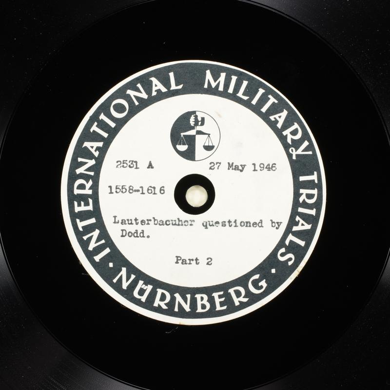 Day 139 International Military Tribunal, Nuremberg (Set A)