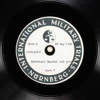Day 140 International Military Tribunal, Nuremberg (Set A)  Click to enlarge