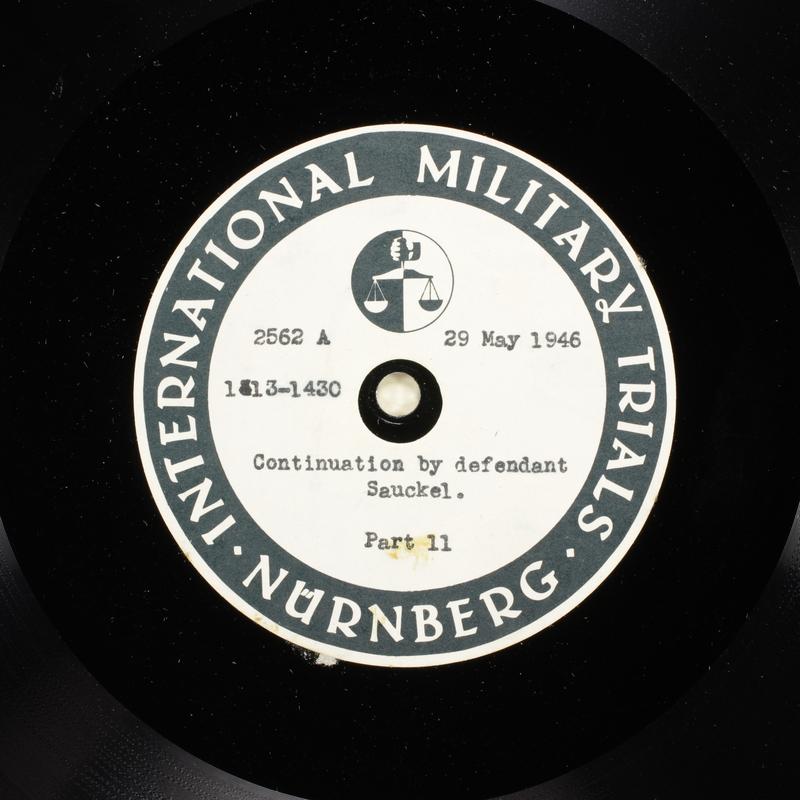 Day 141 International Military Tribunal, Nuremberg (Set A)