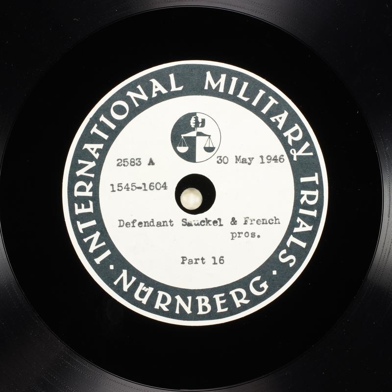 Day 142 International Military Tribunal, Nuremberg (Set A)