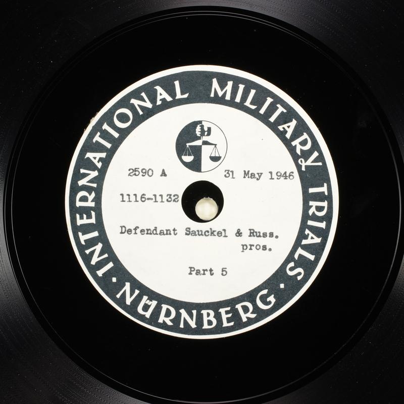 Day 143 International Military Tribunal, Nuremberg (Set A)