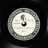 Day 143 International Military Tribunal, Nuremberg (Set A)  Click to enlarge