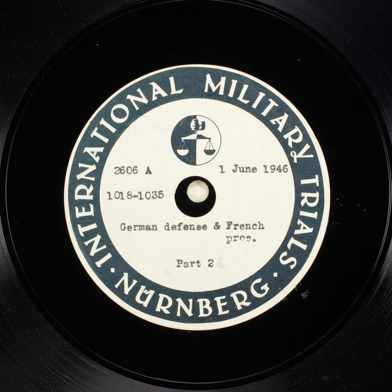 Day 144 International Military Tribunal, Nuremberg (Set A)