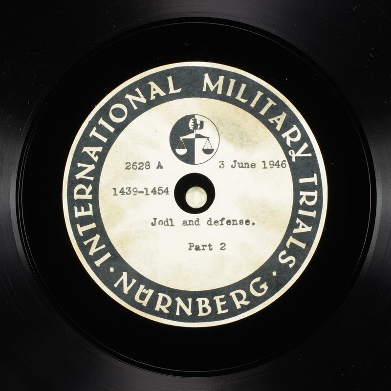 Day 145 International Military Tribunal, Nuremberg (Set A)