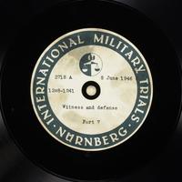 Day 150 International Military Tribunal, Nuremberg (Set A)  Click to enlarge