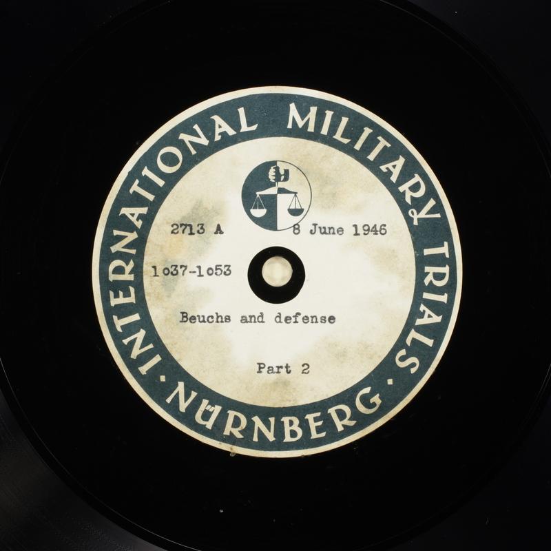 Day 150 International Military Tribunal, Nuremberg (Set A)