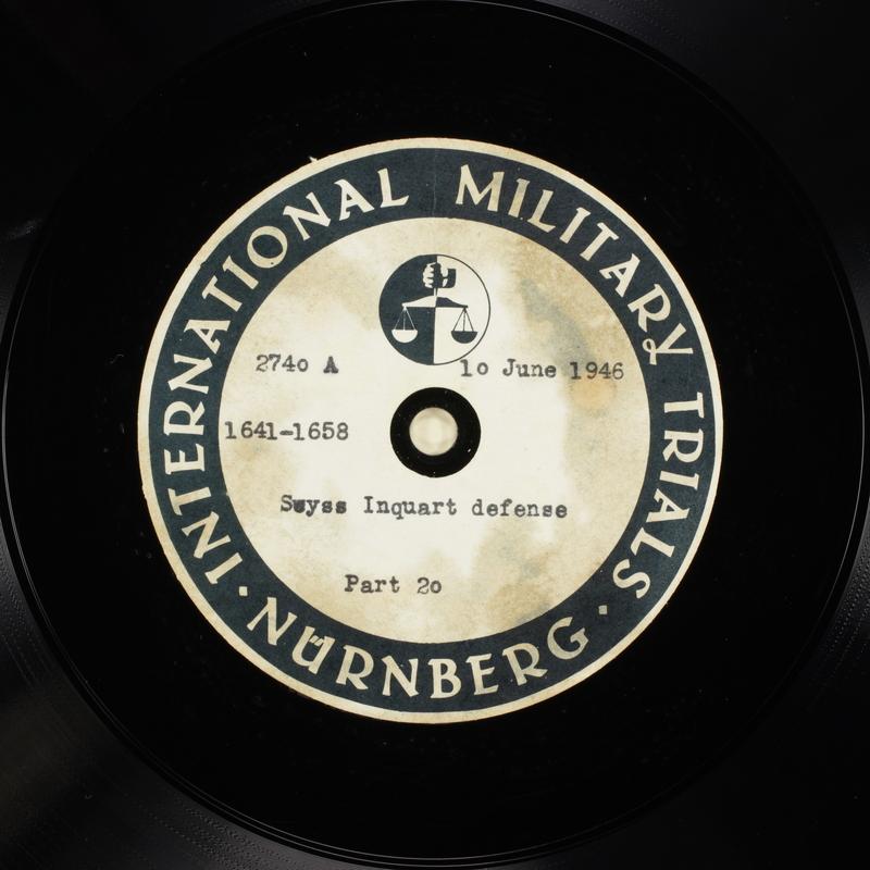 Day 151 International Military Tribunal, Nuremberg (Set A)