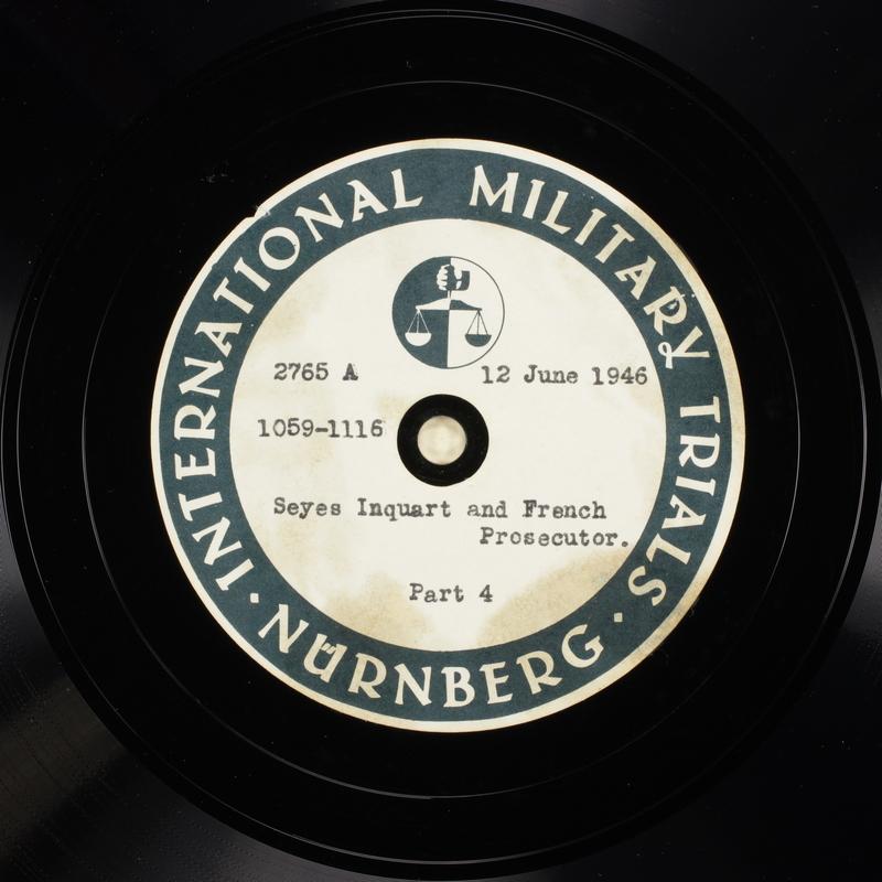 Day 153 International Military Tribunal, Nuremberg (Set A)