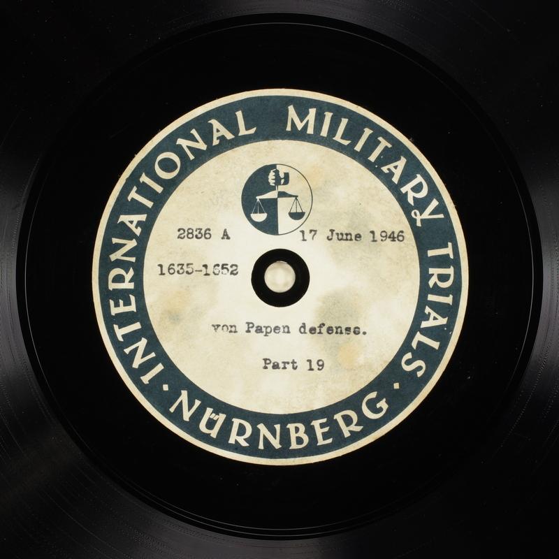 Day 156 International Military Tribunal, Nuremberg (Set A)