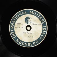 Day 157 International Military Tribunal, Nuremberg (Set A)  Click to enlarge