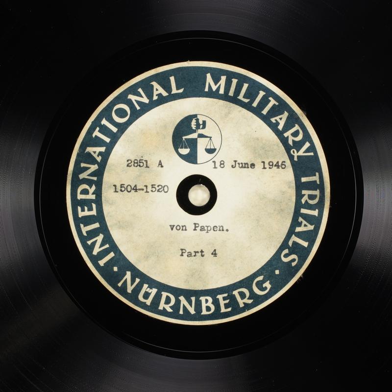 Day 157 International Military Tribunal, Nuremberg (Set A)