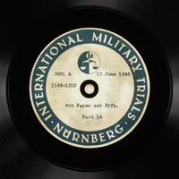 Day 158 International Military Tribunal, Nuremberg (Set A)  Click to enlarge
