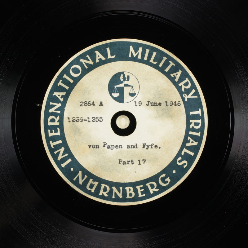 Day 158 International Military Tribunal, Nuremberg (Set A)
