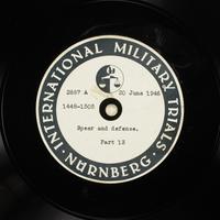 Day 159 International Military Tribunal, Nuremberg (Set A)  Click to enlarge