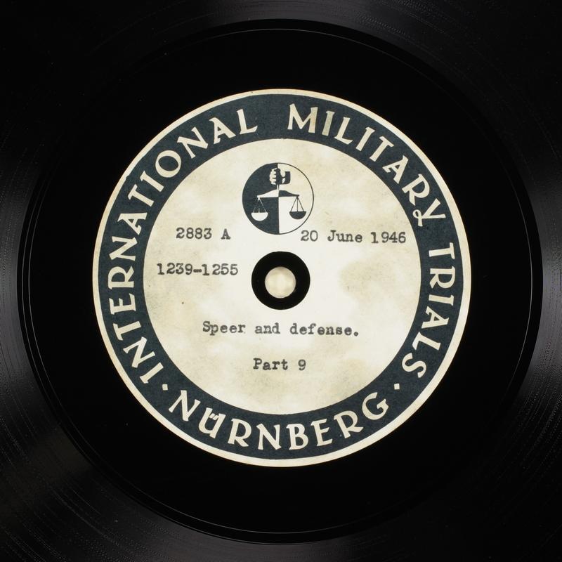 Day 159 International Military Tribunal, Nuremberg (Set A)