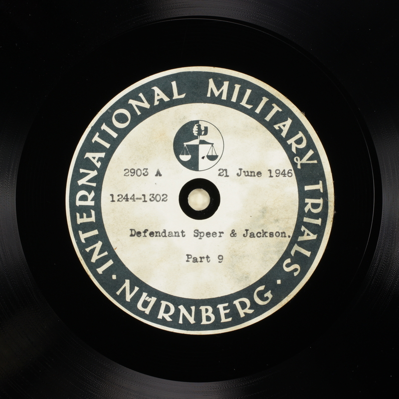 Day 160 International Military Tribunal, Nuremberg (Set A)