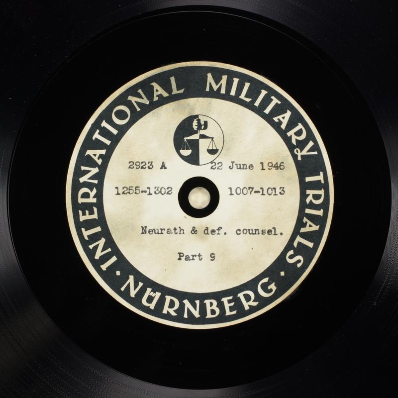 Day 161 International Military Tribunal, Nuremberg (Set A)
